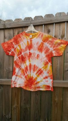 Tie Dye Shirt Orange and Yellow Tie Dye by MessyMommasTieDyes