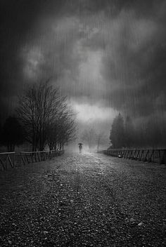 This picture overall represents the loneliness and hopelessness. The black and white further exaggerates to create those moods.