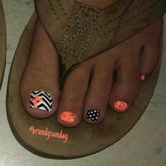 Chevron cross nail-art by Brandy Sunday Toe nail art Pedicure Designs, Pedicure Nail Art, Toe Nail Designs, Toe Nail Art, Pedicure Ideas, Cross Nail Designs, Nail Ideas, Pretty Toe Nails, Cute Toe Nails