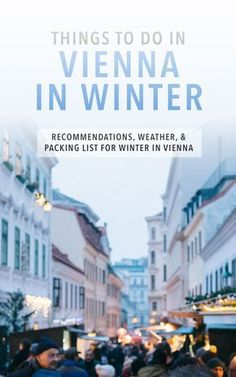 Tips for travel in Vienna during winter. Things to do, eat, see, and experience around Christmas and in the snow!