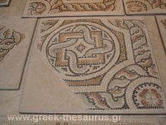 byzantine mosaics from floor in athens basilica