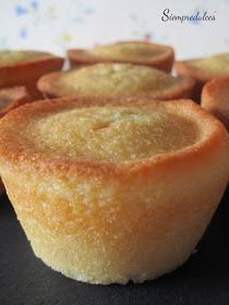 Financiers (Siempredulces) Petit Fours, Yams, Sin Gluten, No Cook Meals, Patisserie, Cornbread, Sweet Recipes, Fruit Cakes, Cheesecake