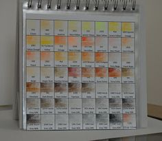 Color Charts for prisma color pencils dark then light then blended with mineral spirits