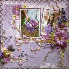 precioso layout color lila