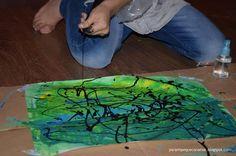 Para mi peque con amor: Jugar con las pinturas: Pintar con manga pastelera