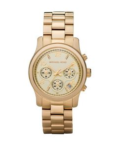 Midsized Chronograph Watch, Golden by Michael Kors at Neiman Marcus.