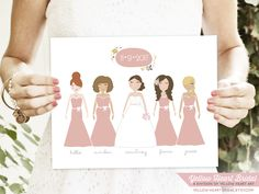 Yellow Heart Bridal custom bridesmaid portraits {love these}