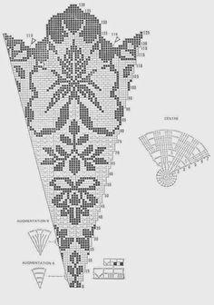 Filet Crochet Tablecloth - Bloom by priscilla Filet Crochet Charts, Crochet Diagram, Crochet Motif, Crochet Doilies, Knit Crochet, Crochet Round, Crochet Home, Cute Crochet, Vintage Crochet