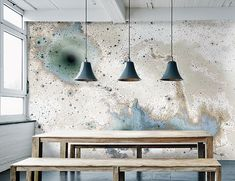 wallpaper inverted spaces  by BCXSY and Calico Wallpaper