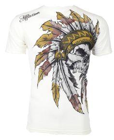 AFFLICTION Mens T-Shirt WINDTALKER Indian Skull Tattoo Fight Biker UFC M-4XL $50 #Affliction #GraphicTee