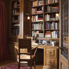 """30 Likes, 3 Comments - Curatologie: Design, Art, Life (@theresacasey1) on Instagram: """"I designed this 'old world' library for my client so she can step back in time and have a room of…"""""""