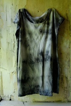 naturally dyed upcycled cotton tunic top dress by enhabiten