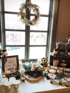 Wintery Woodland Animal Baby Shower | CatchMyParty.com More