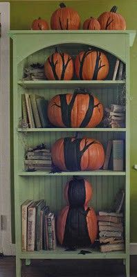 from country living - love this elaborate pumpkin decorating idea!