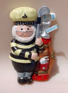 HERSHEY'S Kurt Adler GOLF Golfing Sports Elf Chef Cook MAGNET Man Figurine
