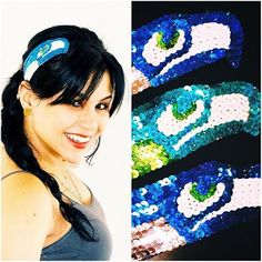 Getting ready for the #superbowl!!! #GoHawks!!! These 3 #handcrafted #seahawks #headbands are going all around the US! Get one of your favorite team that fits you perfectly. Check out my #etsy shop: TheFlowerGirlStore to get yours Emoticon smile. #etsyshop #etsyshopshoutout #etsyelite #etsyfashionhunter #etsyhunter #handmadeloves #theverybestofetsy #craftsposure #creamofetsy #TheFlowerGirl #Arbolito #arbolitomexart #nfl #russelwilson #football #seattleseahawks #hairpiece #hairfashion…