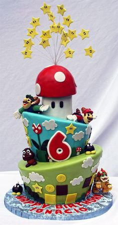 Would be even more fun than my first super Mario cake   Super Mario Bros Cake on Global Geek News.