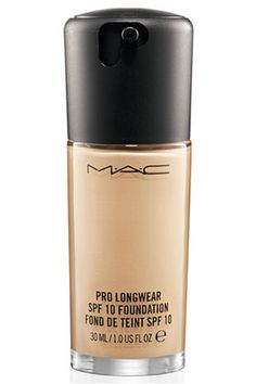 MAC Pro Longwear SPF 10 Foundation- perfect longwearing formula for greasy faces like mine!
