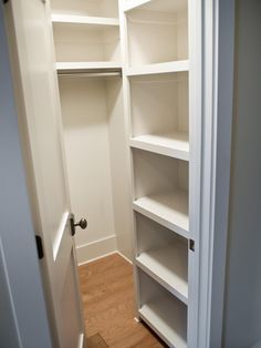 lots of shelf space for stacking jeans, sweaters, T's, etc