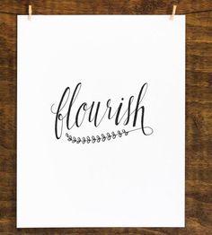 Flourish - Original Calligraphy