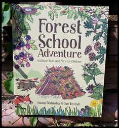 There is a new style of book in town and it is packed full of Outdoor Skills and Play for Children! I am talking about the Forest. Forest School Activities, Nature Activities, Learning Activities, Stem Activities, Education Logo, Environmental Education, Kids Education, Outdoor Education, Outdoor Learning