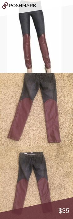 Bcbg vegan leather skinnies Like new! Super cute BCBGeneration Jeans