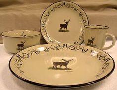 Wildlife Series - Whitetail Deer Antler Dinnerware