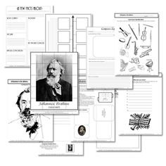Free printables for Brahms, Composer.
