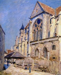 The Church at Moret, 1894. Alfred Sisley