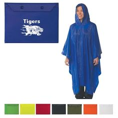 You'll want this if its raining at the game! GREAT Color choices and Team Logo can be added! And AWESOME comes with button up pouch for storage! $2.75/each Promotional Adult Poncho | Customized Ponchos | Promotional Ponchos