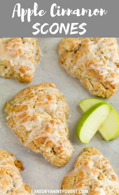 Light as air and crumbly these apple cinnamon scones are packed with chunks of apple and spicy cinnamon. Apple Cinnamon Scones Recipe, Apple Scones, Cinnamon Apples, Cinnamon Bread, Easy Brunch Recipes, Breakfast Recipes, Apple Recipes, Baking Recipes, Scone Recipes