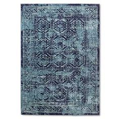Area Rug Overdyed Turquoise 5'x7' - Threshold™ : Target