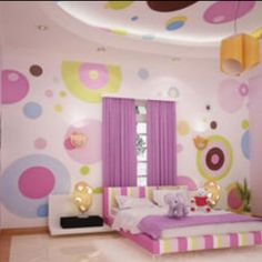 Cute & fun idea for girls room.