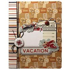Imaginisce Bon Voyage Collection - Vacation Notebook