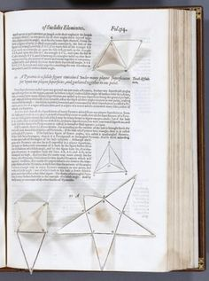 """On this day, November 4, 1590: """"'You have books full of strange sigils and magical incantations,' Widow Beaton said, gesturing at EUCLID'S ELEMENTS. It was, I thought, a very good thing that she hadn't overhead Kit reading aloud from DOCTOR FAUSTUS."""" SHADOW OF NIGHT    image: the Billingsley translation of EUCLID'S ELEMENTS (1570), with a preface by John Dee.  via Deborah Harkness facebook"""