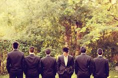 oh my goodness....you could make this another one where the the groomsmen see you but NOT the groom before the wedding!