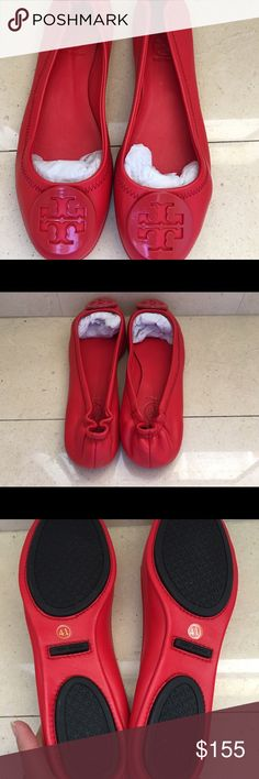 Tory Burch Red flats New Tory Burch beautiful red flats never been worn. Super Comfy. Tory Burch Shoes Flats & Loafers