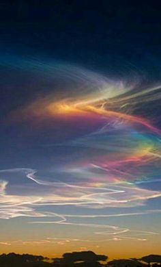 Circumhorizontal Arc or Rainbow Clouds. An atmospheric phenomenon can be seen when the sun rises high in the sky and ice crystals in the clouds form rainbows. Beautiful Sky, Beautiful Landscapes, Beautiful Places, Fire Rainbow, Rainbow Cloud, Rainbow Bridge, Rainbow Swirl, Nature Pictures, Cool Pictures