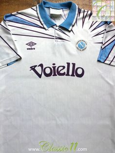 fc63ec2f2 1991 92 Napoli Away Old Vintage Football Shirt   Classic Soccer Jersey