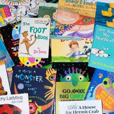 List of children's books with links to the blog about activity for the book.