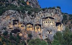 Fantastic Lycian rock tombs and ruins ,Fethiye, Turkey The ancient city of Myra considered one of bizarre archeological areas in Turkey Hd Wallpaper, Wallpapers, 1920x1200 Wallpaper, Chamonix, Famous Buildings, City Buildings, Mountain Village, Turkey Travel, Ancient Ruins