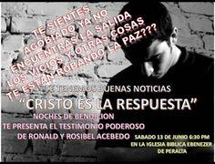 INVITACION PARA ESTE 13 DE JUNIO A LAS 6.30 PREPARATE PORQUE DIOS TIENE COSAS GRANDES PARA TI.