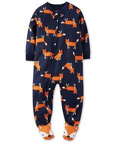 Carter's Baby Boys' Fox Coverall Pajamas