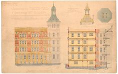Plan for Dixon St extension of Sydney Trades Hall completed 1905