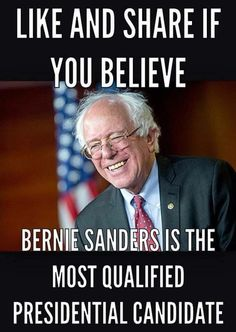 Absolutely! He's been making the right calls for 30 years, while Hillary changes her mind all the time and apologizes later. Let's get things right the first time and go with a candidate who has good JUDGMENT *and* experience. Sanders 2016! #feeltheBern