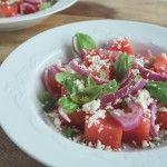 Watermeloensalade met feta en munt | Eat.Pure.Love