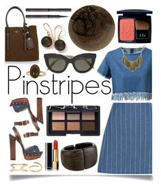 """""""Perfect Pinstripes"""" by ittie-kittie ❤ liked on Polyvore featuring New Look, Chicnova Fashion, Schutz, Prada, NARS Cosmetics, Christian Dior, Ippolita, Kenneth Jay Lane, Chanel and Victoria Beckham"""