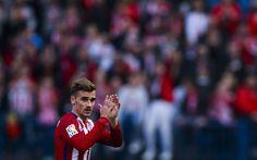 Hämta bilder Antoine Griezmann, Fotboll, Atletico Madrid, La Liga, fotbollsspelare, Spanien