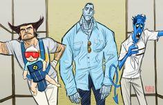 Herren-accessoires Kleidung & Accessoires Marvel Comics X-men Collage Wolverine/ Nightcrawler/ Cyclops Bi-fold Wallet Moderne Techniken