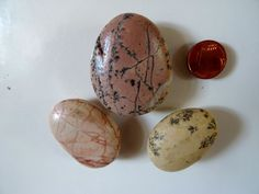 Beach stones fridge magnets. Natural waxed beach by NatureElfsArt